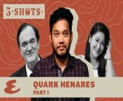 In part one of this Five Shots interview, director and producer Quark Henares of Globe Studios talks about getting vaccinated, partying with Quentin Tarantino, his all-time favorite work, and spending time with his wife during quarantine.